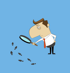 man with magnifying glass vector image