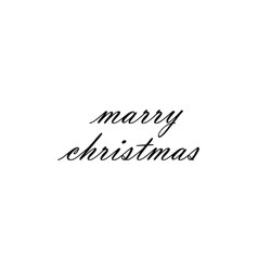 marry christmas hand lettering vector image
