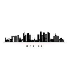 mexico city skyline horizontal banner vector image