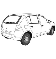 Modern car technical draw vector