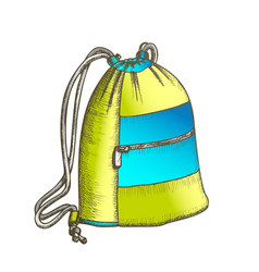 modern luggage bag with ropes color vector image