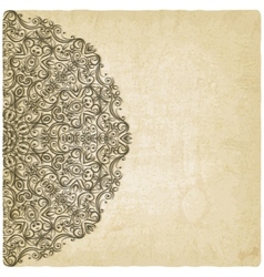 Ornate mehndi old background vector