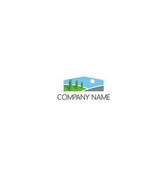 Pine tree nature landscape company logo vector