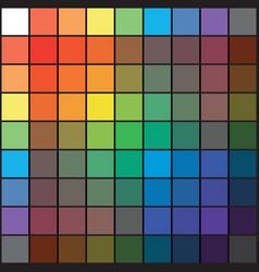 Polychrome multicolor spectral rainbow grid vector