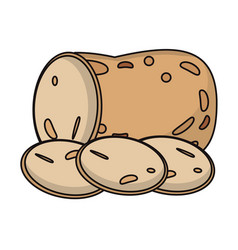 Potato food fresh image vector