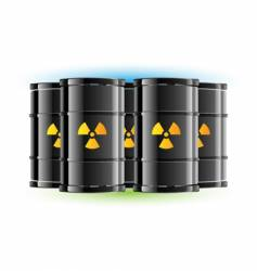 radiation sign barrels vector image