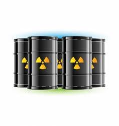 radiation sign barrels vector image vector image