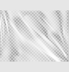 realistic plastic wrap texture stretched vector image