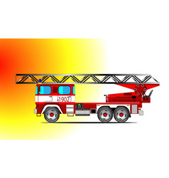 red fire car vector image