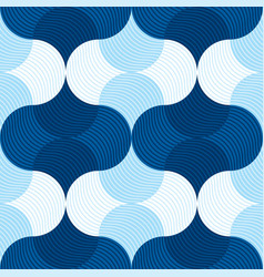 Retro sea water abstract geometry seemless pattern vector