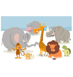 safari cartoon animal characters vector image