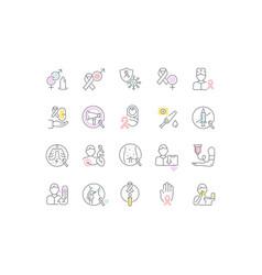 Set line icons aids vector