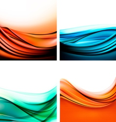Set of colorful elegant abstract backgrounds vector image