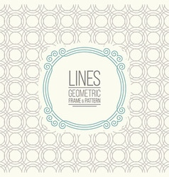 Set of line pattern and linear frame vector