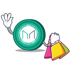 Shopping maker coin character cartoon vector