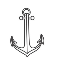 sketch contour anchor icon design vector image