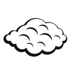 Small cloud icon simple style vector