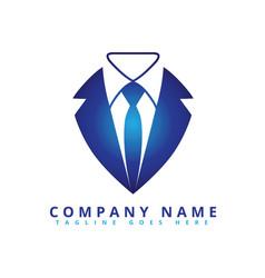 Smart tuxedo fashion logo vector