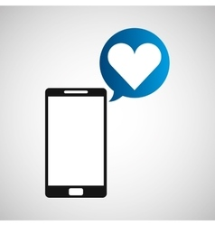 Smartphone and heart application vector