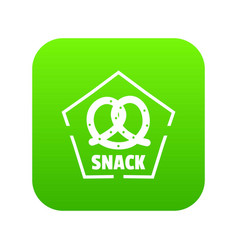 Snack icon green vector