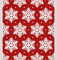 Snowflakes christmas seamless pattern vector