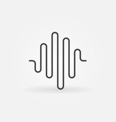 sound wave icon in thin line style vector image