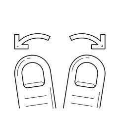spread line icon vector image