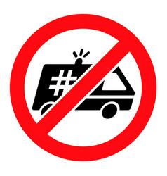 Stop jail police car - icon vector