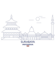 Surabaya city skyline vector