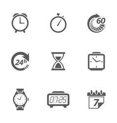 Time concept icons vector