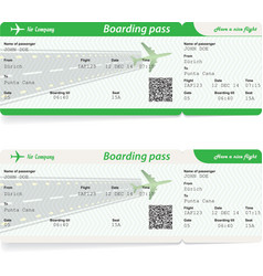two variants of airline boarding pass tickets vector image