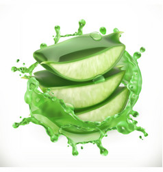 aloe juice health and care 3d icon vector image vector image