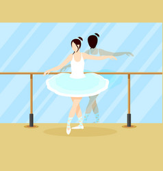 colorful ballet dancer concept vector image vector image