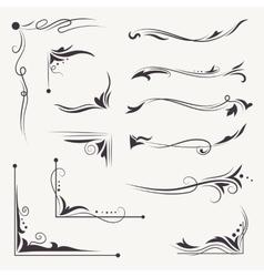 Elegant Arabic Vignettes vector image vector image