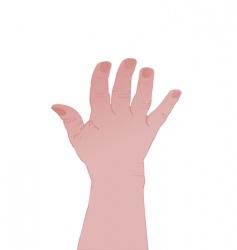 human hand vector image vector image