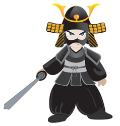 little samurai cartoon vector image