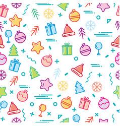 new year display seamless vector image vector image