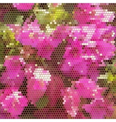 square mosaic with golden frames background vector image vector image