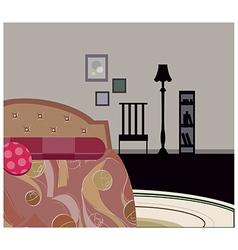 Bedroom Background vector image vector image