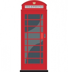 red telephone booth in London vector image