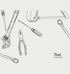 repair carpentry and woodwork work tools sketch vector image