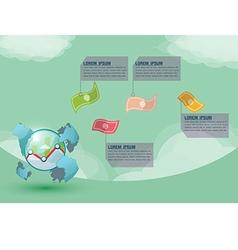 Stock Market World Presentation Money vector image vector image