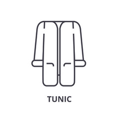 tunic line icon outline sign linear symbol vector image