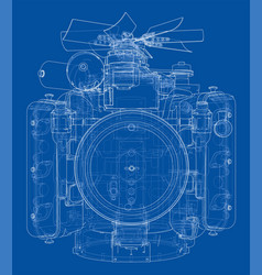 engine sketch vector image