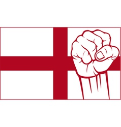 england fist vector image vector image