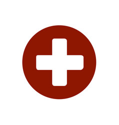 first aid medical sign flat icon for app and vector image
