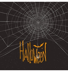 halloween background spider webb vector image vector image
