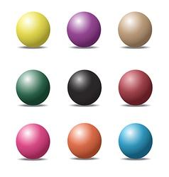 ball set 1 vector image
