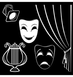 Collection of theatrical characters vector image