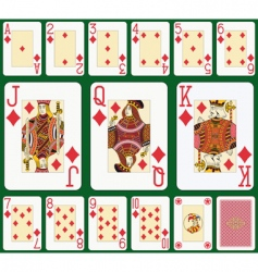diamond playing cards vector image
